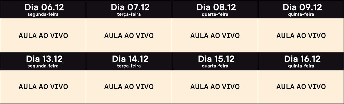 Calendário de Aulas // Crédito no Agronegócio