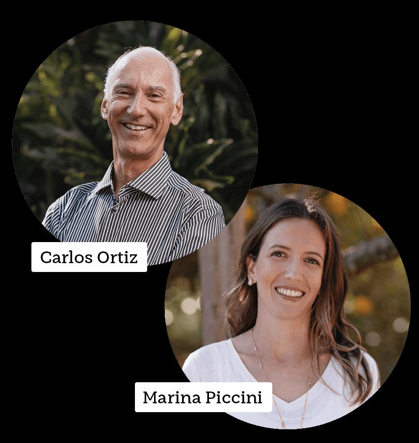 Carlos Ortiz e Marina Piccini